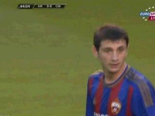 Гол Кейсуке Хонда · АИК (Стокгольм) - ЦСКА (Москва) - 0:1