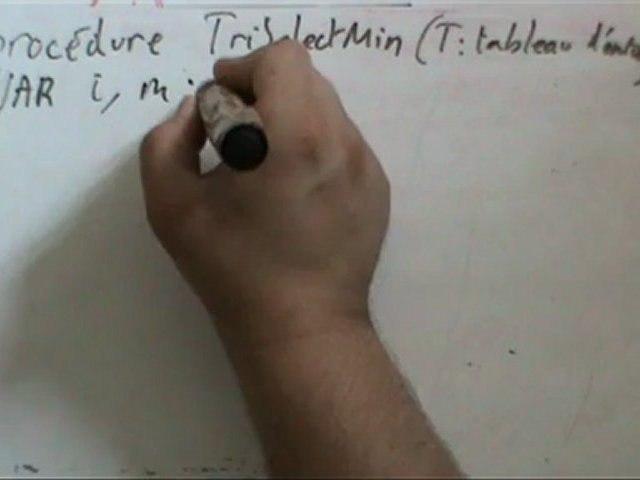Premier algorithme de tri. Cours du 26 août 2012.