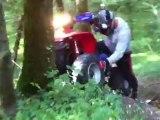 Grosse montée en Polaris 500 Scrambler - Fun Quad Aventure 91 - Crash ATV -