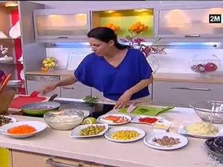 choumicha 2013 -  salade au fruit de mer | recette pour maigrir