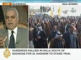 Iraqi Vice-President Tariq al-Hashemi speaks to Al Jazeera
