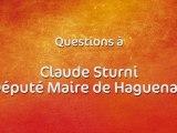 Rallye de France Alsace à Haguenau - Questions à Claude Sturni, Député-maire