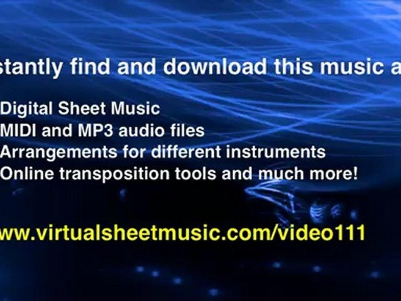 Johann Baptist Georg Neruda's, Concerto in Eb major, trumpet and piano  sheet music - Video Score
