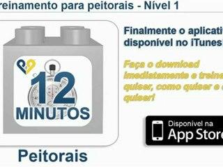 Treinamento para peitorais - disponível na App Store