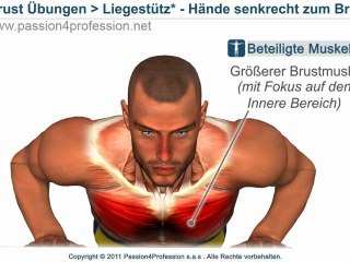 Innere brustmuskel trainieren - Liegestütz