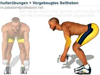 Vorgebeugtes Seitheben (Schulterübungen)