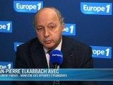 Syrie: Fabius n'exclut pas d'intervenir sans l'accord de l'ONU