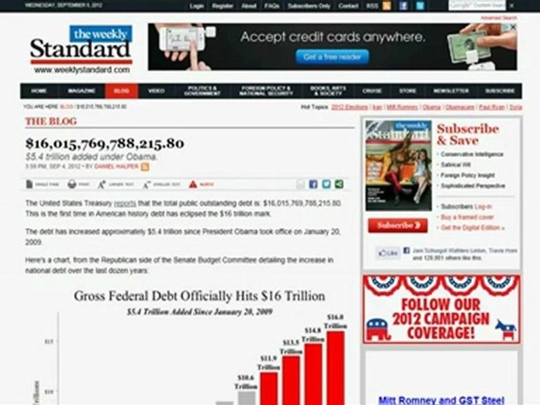 $16,015,769,788,215.80 National Debt $5-4 Trillion added under Obama