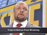 Triple H Retires from Wrestling