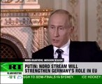 German ARD TV interviewing PM Putin