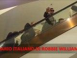 ROBBIE WILLIAMS ON THE ESCALATOR - SELFRIDGES FARRELL LAUNCH 2012