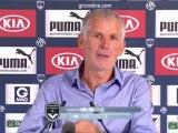 Conférence de presse Girondins de Bordeaux - OGC Nice : Francis GILLOT (FCGB) - Claude  PUEL (OGCN) - saison 2012/2013