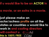 How to become an actor, How to be an extra in a movie, Actors Needed, Extras needed for movies, free movie auditions, free casting calls, post a free movie audition, post a free casting call, casting notices, t.v. auditions, make a free acting profile,