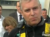 Prince Andrew completes shard abseil