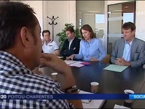 Ségolène Royal- Une rentrée sur le terrain de l'emploi 19-20 France 3 Poitou-Charentes