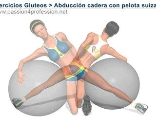 Ejercicios Gluteos - Abduccion cadera con pelota suiza