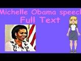 Michelle Obama speech DNC convention