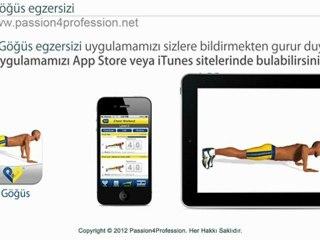 Göğüs egzersizi - uygulama iPhone iPad