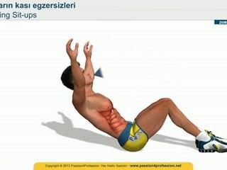 Karin egzersizleri eritme - hareketleri - Sling sit up