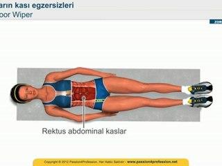 Karin kasi egzersizleri - KARIN egzersizleri eritme - Floor Wiper