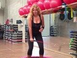 Monya fitness e Giwa squat mezzo squat sul trampolino elastico e con la Flexi Bar Butterfly