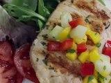 Pineapple Grilled Pork Chops With Fresh Mango Salsa