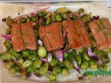 roasted maple salmon & brussels sprouts recipe