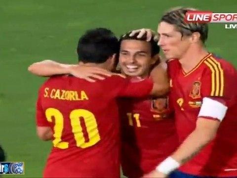 España 5 Arabia Saudí 0