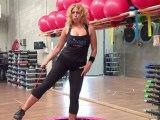 Monya fitness e Giwa esercizi Flexi Bar Butterfly con trampolino elastico tavola propriocettiva.