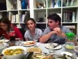 אצל משפחת רוזן, ארוחת ערב שישי שהכינה אילת קופר