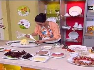 cuisine marocaine choumicha salade composee de choux betterave et pâtes