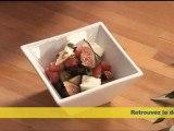 Salade sucrée salée  aux tomates, mozzarella, olives et figues
