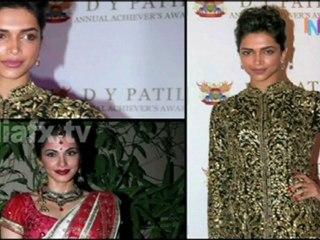 Salman and Deepika at D Y Patil 2011 Awards