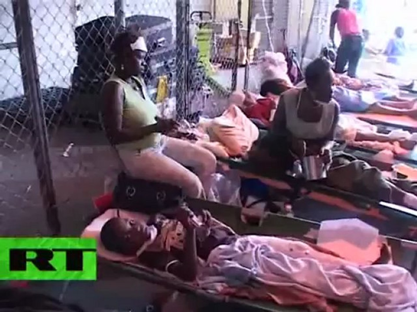 Tears and Pain in Haiti: Video from tent hospital