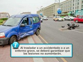 Conducción segura de motocicletas: Parada y reanimación cardiaca y traslado de accidentados