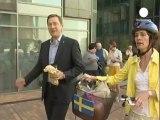 İsveçli diplomatın makam aracı bisiklet