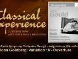 Glenn Gould plays Bach : Variations Goldberg : Variation 16 - Ouverture