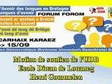 Forum des langues Carhaix Motion Diwan Ecole de Louaneg