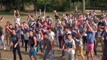 Flashmob JMJ Rio : Retraite Lycéens - Tressaint 2013