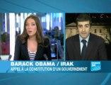 """Fin de la mission de combat en Irak, Obama appelle à """"tourner la page"""" (France24)"""