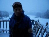 Il neige, il neige au centre de ski alpin d'Ovifat