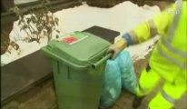 La neige perturbe la collecte des déchets à Liège