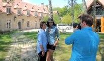 Arnaud Lagardère et Jade Foret : la vidéo du shooting, chez eux, à Paris