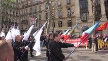 Paris (France) 12/06/2013 Derniere manifestation d Esteban Morillo avant incarceration