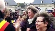 Tournai: le bain de foule du Prince Philippe et de la Princesse Mathilde