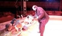 Paolo dompteur de chien au cirque Bouglione à Mons
