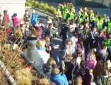 Mouscron: 450 élèves ont battu le tambour pour la paix