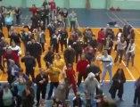 Mouscron: flash mob après une journée sportive pour personnes handicapées