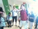 Bjorn Borg et Jean Michel Saive rendent visite aux enfants malades de l'hopital Reine Fabiola