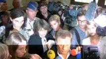 Réaction de Jean-Denis Lejeune après l'audience pour la libération de Michelle Martin